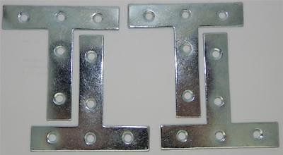 "Pack of 12 Tee Plates Zinc Plated 3"" / 75mm (item No.729)"