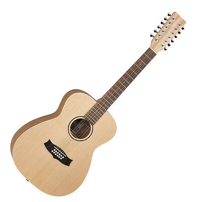 1 Great 12 String Folk Acoustic Guitar,natural Wood Satin Finish Rrp £200