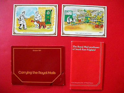 Royal Mail Post Bus and Railway Sorting Office Postcards First Day of Issue