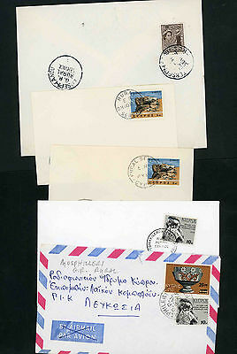Cyprus selection of nine covers with rural postmarks