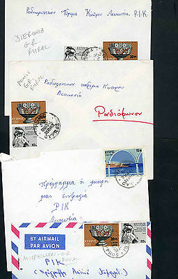 Cyprus selection of eight covers with rural postmarks