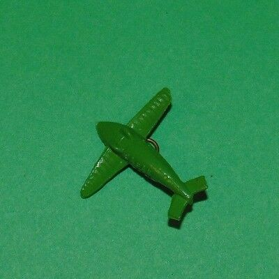 Vintage 1940's Celluloid Cracker Jack Charm Green Airplane