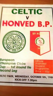 Celtic v Honved BP European Champions Clubs Cup, 05/10/1988