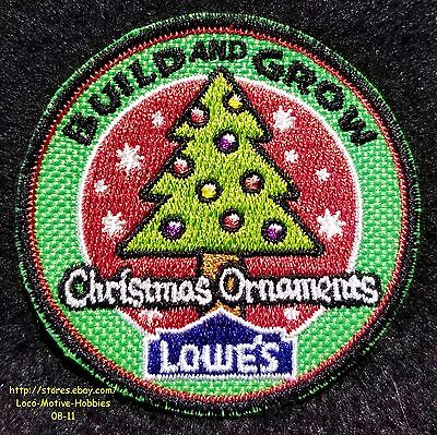 LMH PATCH Badge  2009 CHRISTMAS ORNAMENTS Xmas Tree  LOWES Build Grow Ornament