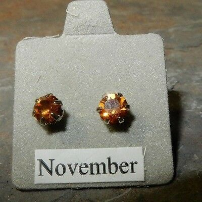 Birthstone Earrings-November-Pierced