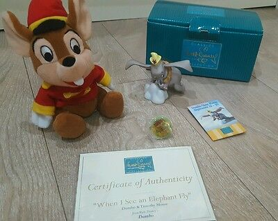 Wdw Classics Collection Dumbo & Timothy Mouse Figurine / Pin / Badge / Free P&p