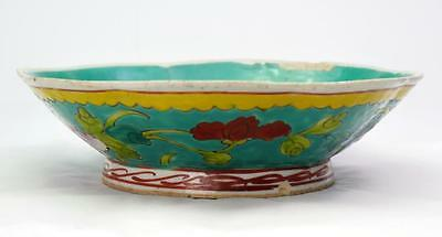 Antique Chinese Porcelain Dish Bowl Hand Painted Chrysanthemums
