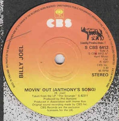 Movin' Out (Anthony's Song) 7 : Billy Joel