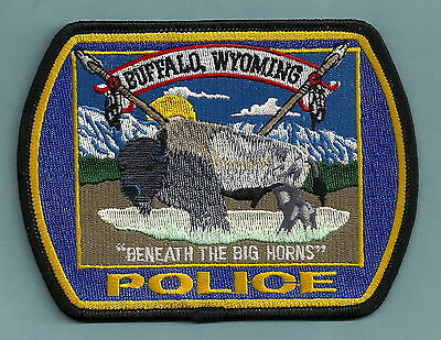 Buffalo Wyoming Police Patch Wildlife Scene!