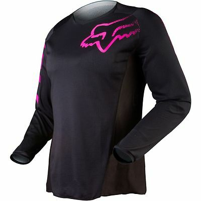 NEW 2019 Fox Racing Youth Girls Pink / Black Blackout Jersey Size LARGE Dirtbike