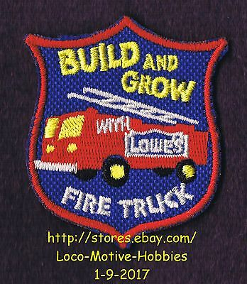 LMH PATCH Badge 2004 FIRE TRUCK Firetruck Engine Fireman LOWES Build Grow Shield