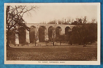 2 Postcards POSTED 1910 THE VIADUCT PORTHKERRY BARRY GLAMORGAN WALES