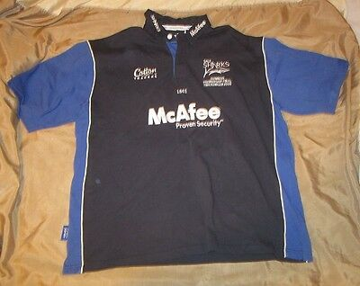 "Rare Sale Sharks ""2006 Prmemier Final"" Rugby Shirt Jersey Adult 2XL ""Excellent"""