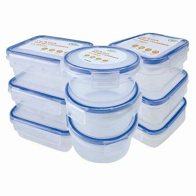3 Pack Clip Lock Airtight Kitchen Food Baby Storage Container Plastic 200ml