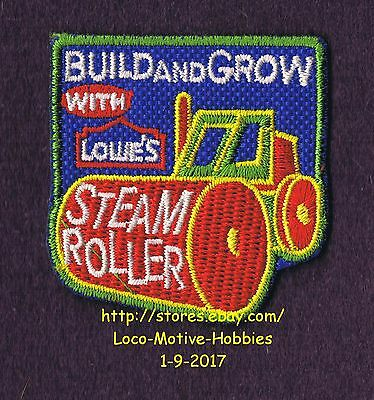 LMH PATCH Badge STEAM ROLLER Steamroller Road LOWES Build Grow Heavy Equipment