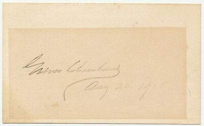 Authentic President Grover Cleveland AUTOGRAPH! August 1905 on cardstock!