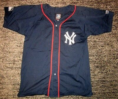 Rare New York Yankees NY Baseball Shirt Adult L *Official*