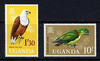 UGANDA 1965 High Values from the Birds Issue SG 122 & SG 125 MNH