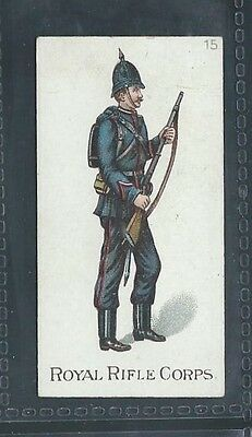 Gallaher Types Of The British Army Three Pipes Brown No 15 Royal Rifle Corps