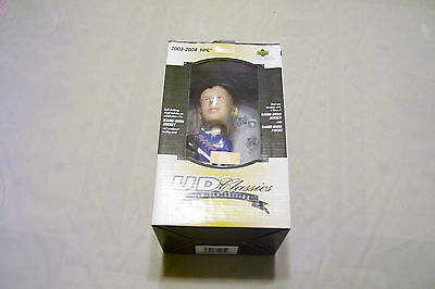 2003-2004, RARE, PAVEL BURE BOBBLE HEAD UD No. 28 of 100, USED PCE JERSEY & PUCK