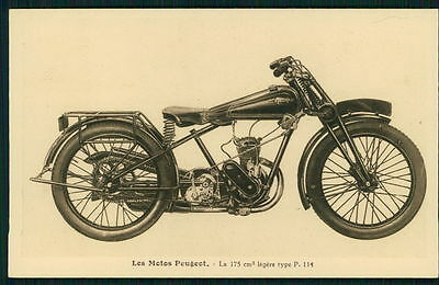 advertising Motorcycle Peugeot 175 cm3 light type P 114 old 1920-1930s postcard