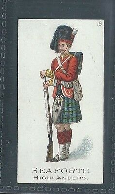 Gallaher Types Of The British Army Three Pipes Brown No 19 Seaforth Highlanders