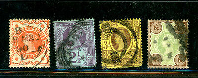 Great Britain Scott # 111, 114, 115, 116 used -- great stamps