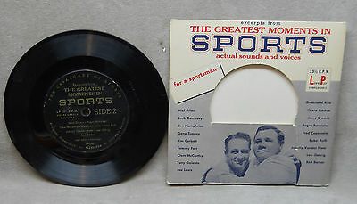 """Greatest Moments in Sports  7"""" record."""