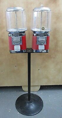 Commercial Double Head Gumball Candy Machine Vending Machine With Keys