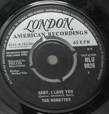 """The Ronettes - Baby, I Love You  7"""" Vinyl"""