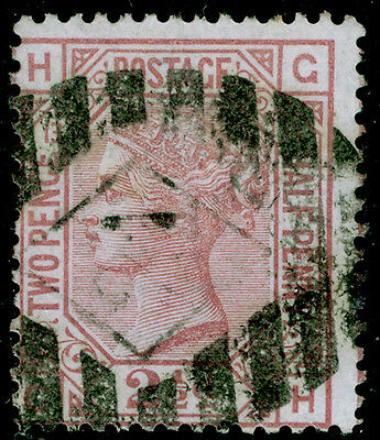 Sg141, 2½d rosy mauve plate 13, used. Cat £60. GH