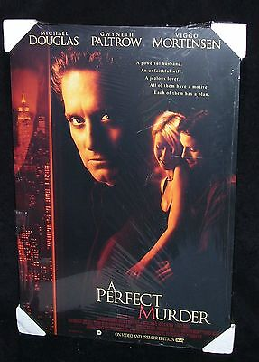 A Perfect Murder Dvd Release Poster Board Mounted, Sealed