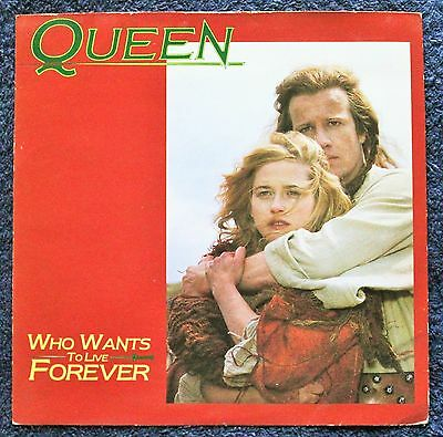 "Queen Who Wants To Live Forever Rock, Stage & Screen 1980s 7 "" INCH 45RPM"