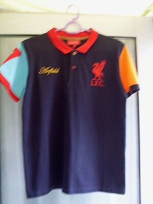 New.Official Liverpool boys Polo shirt.Age 11-12 years.