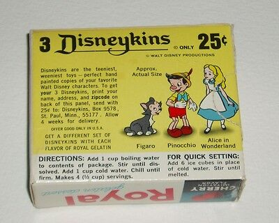 1960's Royal Pudding Box w/ ALICE IN WONDERLAND Disneykins offer disney Marx