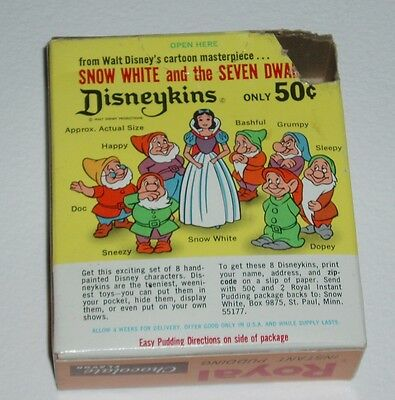 1960's Royal Pudding Box w/ Snow White Disneykins offer disney Marx