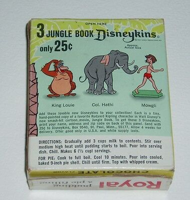 1960's Royal Pudding Box w/ JUNGLE BOOK Disneykins offer disney Marx