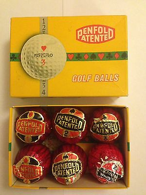 Vintage Penfold Patented Hearts Box & 5 Sealed Balls Spades Clubs Diamonds