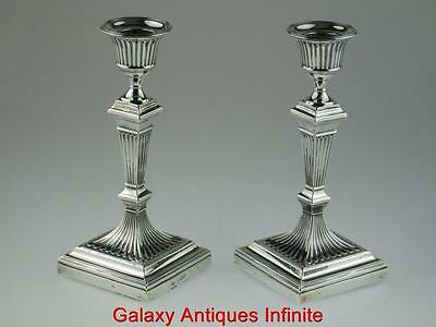Antique Solid Silver Candlesticks 1902 London