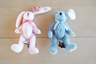 Ty  ~ The Attic Treasures Collection, Strawbunny, Bluebeary - 2 Lot - Retired