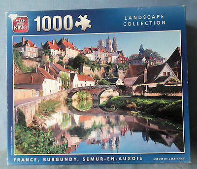 1 Jigsaw - France/burgundy Semur-En-Auxois - By King Puzzles-1000 Pieces - Used