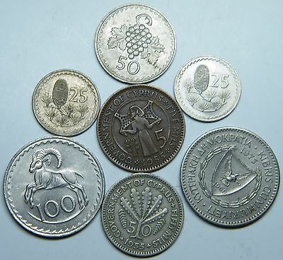 WCA Cyprus Coins 1955 - 1979 Lot # S30