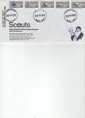 1988  CHRISTMAS - CHESTERFIELD SCOUTS - 1st DAY oF ISSUE