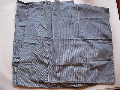 Vintage Laundry Bags Military Cotton Ticking Material Lot of 4