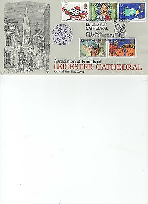 1981  Christmas - Leicester Cathedral - Bradbury Official Cover Lfdc 14