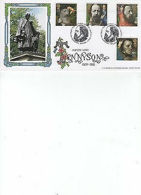1992  Tennyson - The Tennyson Society - Somersby - Bradbury Official Lfdc 104