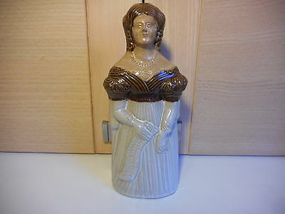 Denby Stoneware Antique Reproductions Queen Victoria Bottle Spirit Flask
