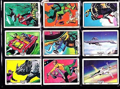 Captain Scarlet Bubblegum 42 cards see every card scanned