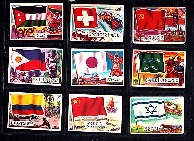 Flags of the World SMALL size  A&BC Gum bubblegum cards 36 odds