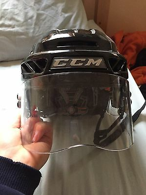 CCM Fitelite 3DS (anti concussion) (USED ONCE) Ice Hockey Helmet with Visor